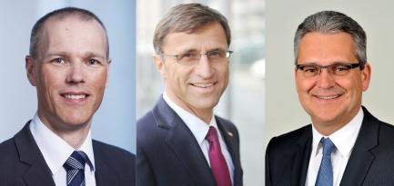 Unsere Referenten, die Herren Sturm, Margreiter und Birk